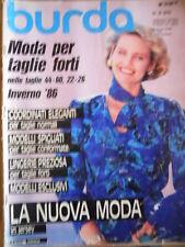 BURDA n° E 879 1986 - Moda per Taglie Forti Inverno 1986  [M6]