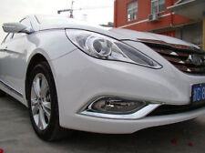 Chrome Front Fog Light Lamp Cover Molding Decor Trim For Hyundai SONATA 2011-13