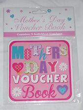 MOTHERS DAY GIFT  VOUCHER BOOK  5 VOUCHERS PER BOOK NOVELTY GIFT ITEM MUM MUMMY