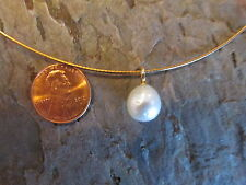 14KT Yellow Gold & Paspaley South Sea Pearl Pendant Simple Elegant Design NEW