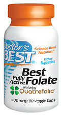 Best Fully Active Folate 400mcg by Doctors Best - 90 VC