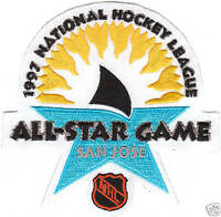 NHL 1997 ALL STAR GAME JERSEY PATCH SAN JOSE SHARKS NEW