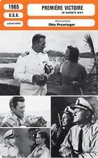 FICHE CINEMA : PREMIERE VICTOIRE Wayne,Douglas,Neal,Preminger 1965 In Harm's Way