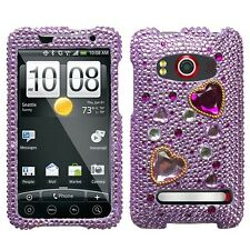 Love Crash Crystal Diamond BLING Hard Case Phone Cover for Sprint HTC EVO 4G