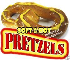 """Soft & Hot Pretzels Decal 14"""" Food Truck Concession Stand Restaurant Vinyl"""