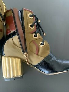 DIOR glorious boots, gold heel size 37