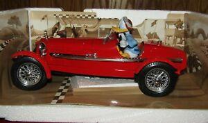 Burago Walt Disney Donald Duck Alfa Romeo 8C 2300 Monza Replica Car 1/18 NIB