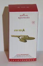 2016 Hallmark Star Trek 50th Pilot Gold Uss Enterprise Keepsake Ornament Nib New