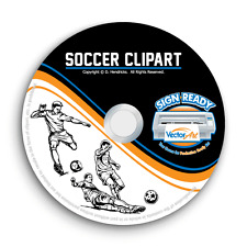 SOCCER CLIPART-VECTOR CLIP ART-VINYL CUTTER PLOTTER IMAGES & T-SHIRT GRAPHICS CD