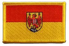 Österreich Burgenland Aufnäher Flaggen Fahnen Patch Aufbügler 8x6cm