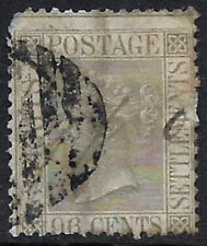 STRAITS & SETTLEMENTS - QUEEN VICTORIA - 1867 , #18 , CAT.$55.00