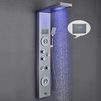 Shower Panel LED Rainfall Waterfall Shower System with Temperature Display
