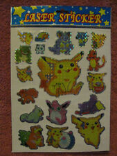 10 NEW PACKS POKEMON LASER FOIL HOLO STICKERS *GO BIRTHDAY PARTY FAVORS* SET LOT