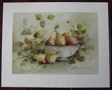 Jan Kooistra -Pears Gemälde Bild 40x50cm Kunstdruck Birnen Herbst Motiv II