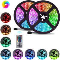 1-20m LED Strip Lights 3528 RGB LED 12V Color Change 44key IR Controller Adapter