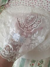 More details for vintage belgian lace ? cushion cover / nightdress case