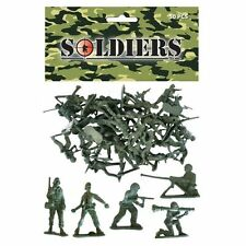 Henbrandt B65 035 Green Plastic Toy Soldiers, pack of 50
