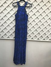 NWOT NIGHTWAY PRINTED GLITTER GOWN in MIDNIGHT BLUE 14 MINT CONDITION