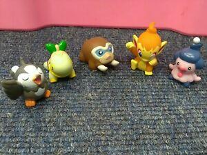 5 X Bandai Pokémon Figures (starly,  mamoswine, turtwig, mime jr, chimchar)