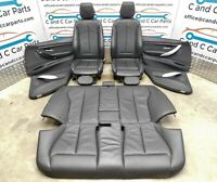 BMW 3 Series Black Leather Seats M Sport Heated with Door Cards F30 Pre LCI