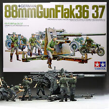 TAMIYA 1/35 GERMAN 88mm GUN FLAK 36/37 PRECISION MODEL KIT 35017