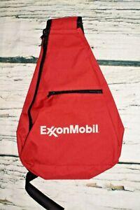 Unisex Shoulder Sling Bag Backpack ExxonMobil Advertising Red Black
