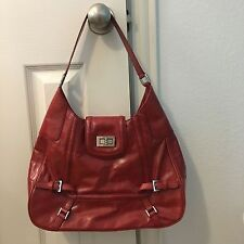 KATE LANDRY Red Leather SHOULDER BAG PURSE
