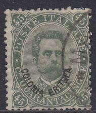 ERITREA :1893 45c  dull green  SG 8 used