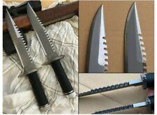 Custom Hand Made D2 Steel Standard Edit Rambo Knife Black Nylon Cord