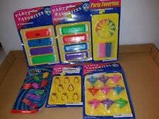 5 Packages Party favor Small Toys Treasure Box Items NIP Vintage?