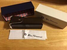 *~ BNIB Ben Sherman Brown Reading Eye Glasses Case with Microfiber Cloth