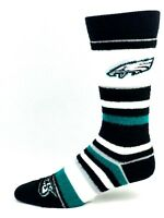 Philadelphia Eagles For Bare Feet Women's Soft Stripe Crew-Length Socks