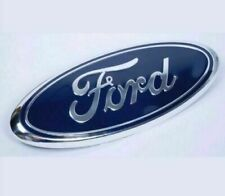1 PCS Blue & Chrome 2005-2014 Ford F150 Front Grille/Tailgate 9 inch Oval Emblem