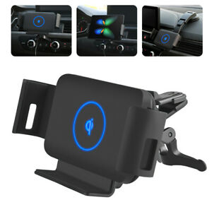 Qi Wireless Car Phone Charger Auto Holder Stand For iPhone Samsung Galaxy Fold