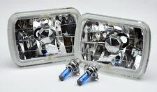 "7x6"" Clear Halo Angel Eye Crystal H4 Headlight Conversion w/ Bulbs TOYOTA"