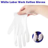 1-10 Paar Baumwollhandschuhe weiß Baumwoll Handschuhe Trikothandschuhe Satz