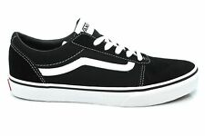 Vans Ward Junior Boys Young Ladies Black Suede Canvas Shoes Trainers Size 3-6