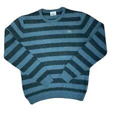 Lacoste Wool Sweatshirt Jumper Vintage Stripe Size 3 Small Mens