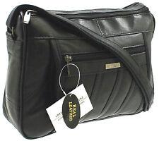 Ladies Leather Bag Lorenz Organiser Handbag Shoulder Overbody Multi Colours