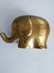 Small collectable Brass Heavy Elephant Ornament
