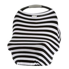 Itzy Ritzy Mom Boss 4-in-1 Multi-Use Nursing Cover Car Seat Cover Black/White S