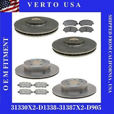 Front & Rear Brake Rotors & Pads For Nissan Maxima 2009-2010-2011-2012- to 2018