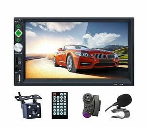 Pantalla Radio Para Carro Auto Con Camara De Reversa Retroceso Bluetooth Full HD