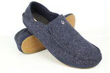 Olukai Men's Moloa Hulu Slipper Shoes Size 16 Trench Blue *Blemish