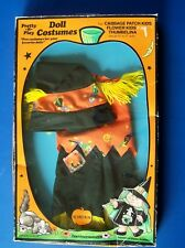 "CPK SCARECROW COSTUME CABBAGE PATCH KID FLOWER KIDS THUMBELINA 15-18"" Doll MIB"