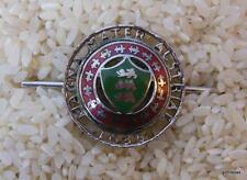 """Vintage Silver Tone Collar Pin """"Magna Mater Alstria"""""""