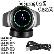 Qi Wireless Charging Dock Cradle Charger For Gear S2 Classic/3G R720 R730 R732