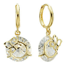 14k Solid Yellow Gold Hoop Earrings Pastel 6818 Charming Design Lovely