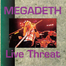MEGADETH LIVE THREAT rare 1993 Italy CD Metallica Fear Lee Ving Dave Mustaine