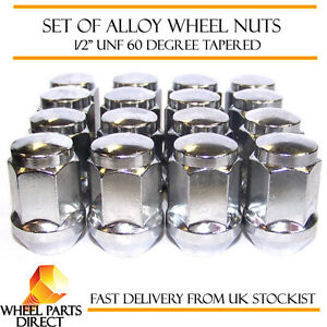 """Alloy Wheel Nuts (16) 1/2"""" UNF Degree Tapered for MG MGB 1966-1980"""